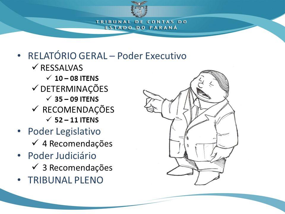 RELATÓRIO GERAL – Poder Executivo