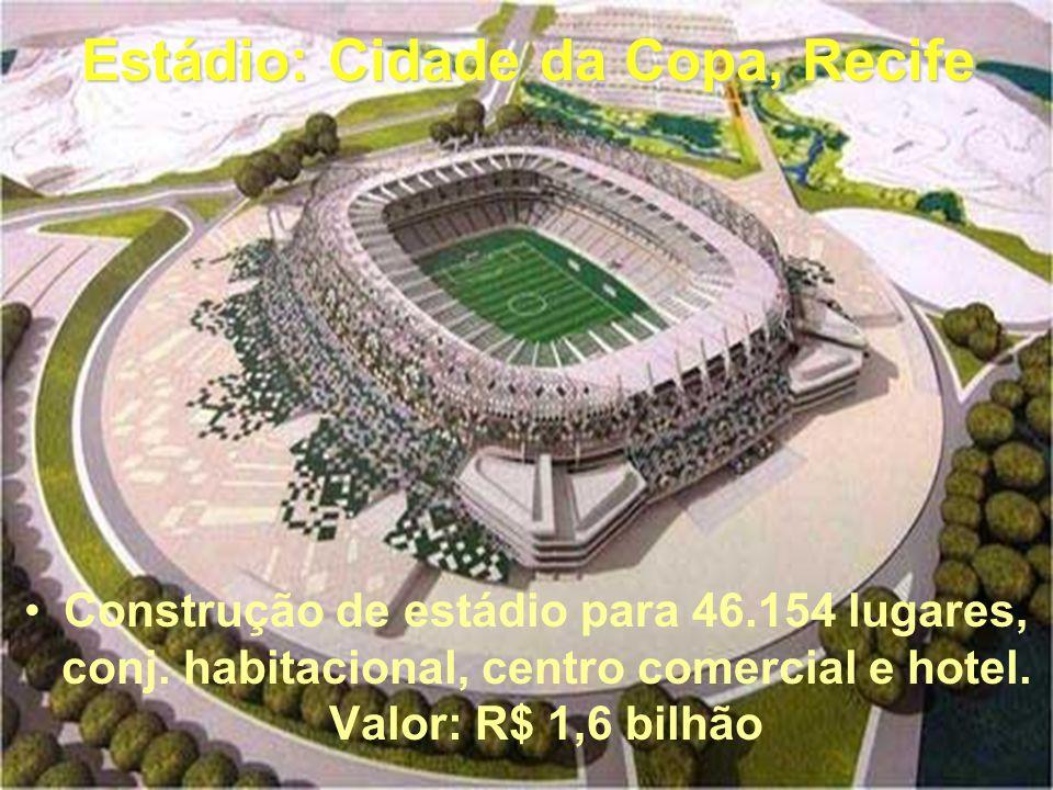 Estádio: Cidade da Copa, Recife