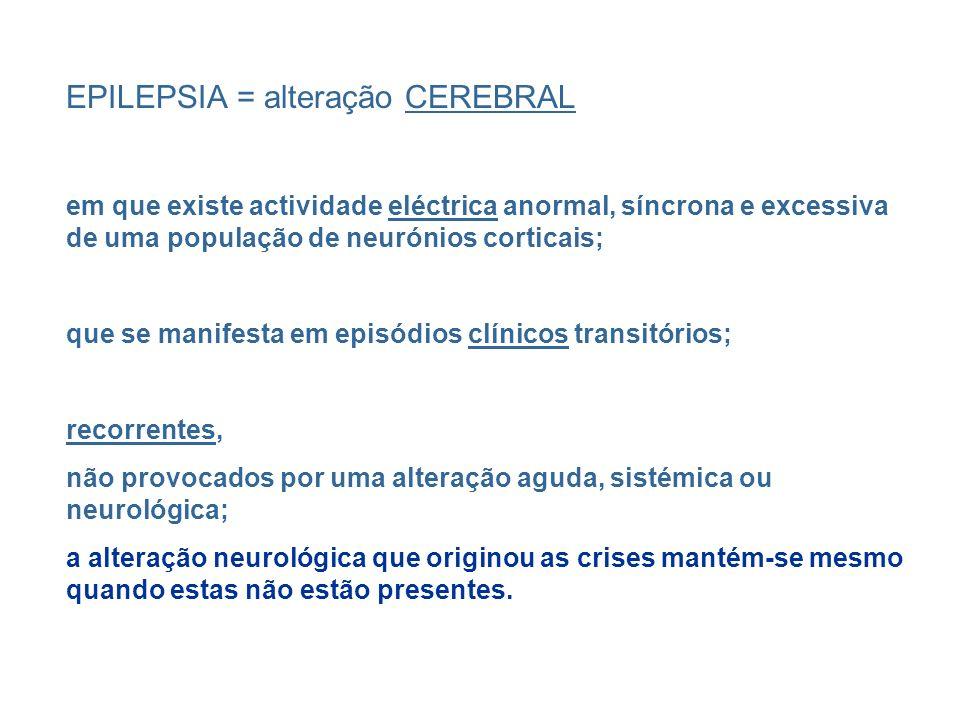 EPILEPSIA = alteração CEREBRAL