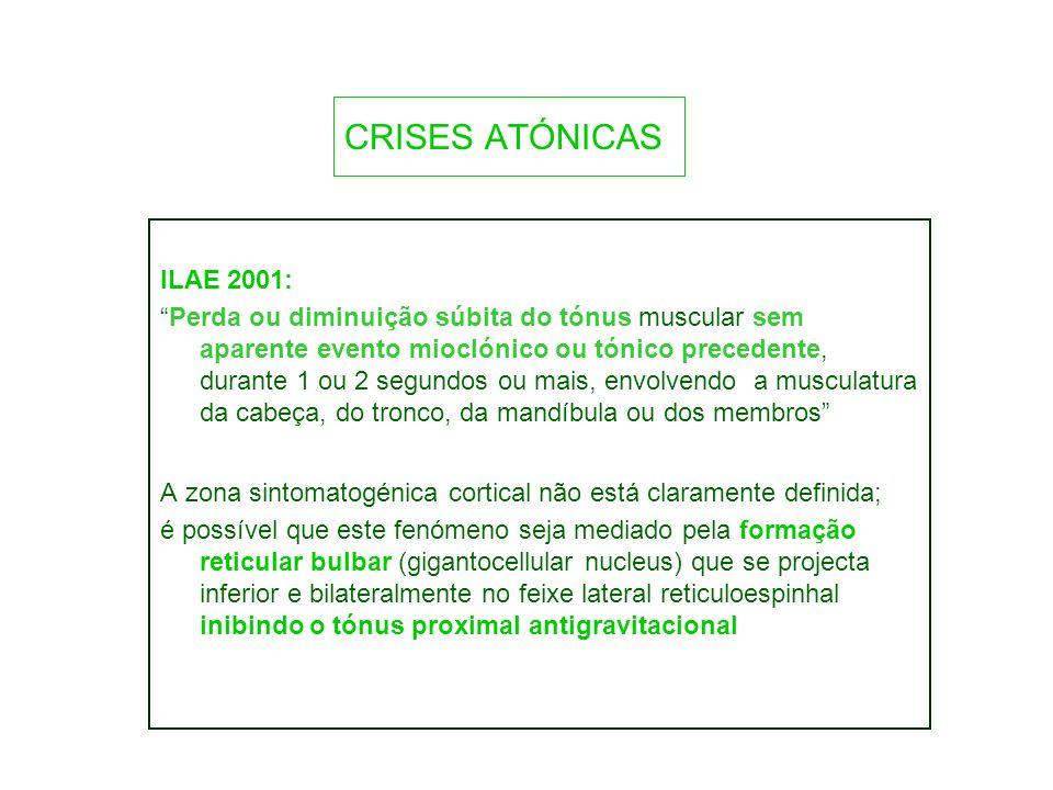 CRISES ATÓNICAS ILAE 2001: