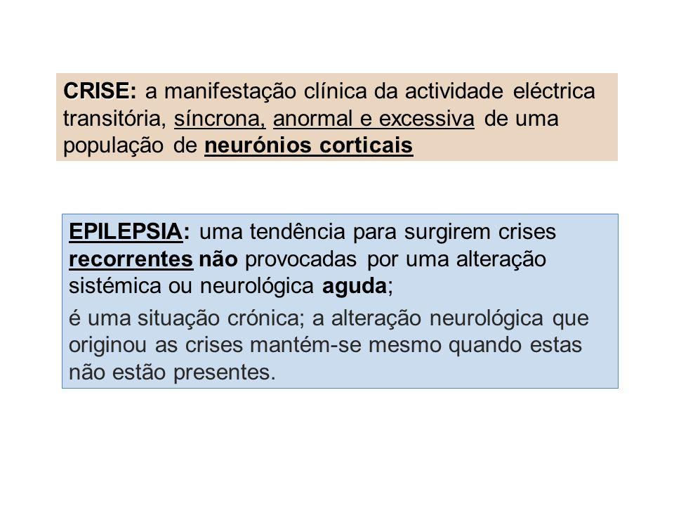 CRISE: a manifestação clínica da actividade eléctrica transitória, síncrona, anormal e excessiva de uma população de neurónios corticais