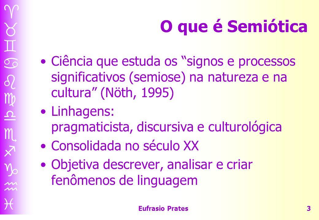 O que é Semiótica Ciência que estuda os signos e processos significativos (semiose) na natureza e na cultura (Nöth, 1995)