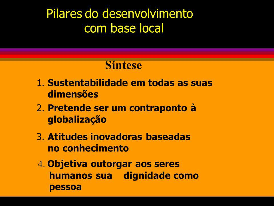 Pilares do desenvolvimento com base local