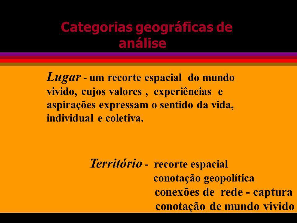 Categorias geográficas de análise
