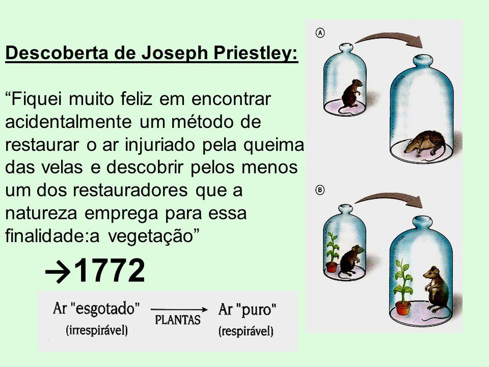 →1772 Descoberta de Joseph Priestley: