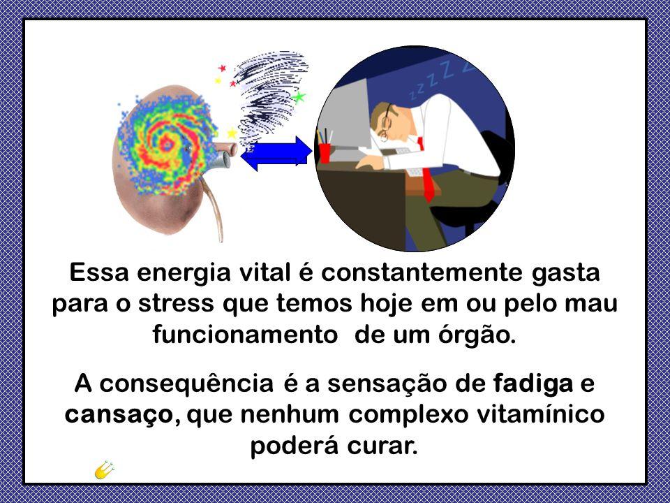 Essa energia vital é constantemente gasta para o stress que temos hoje em ou pelo mau funcionamento de um órgão.
