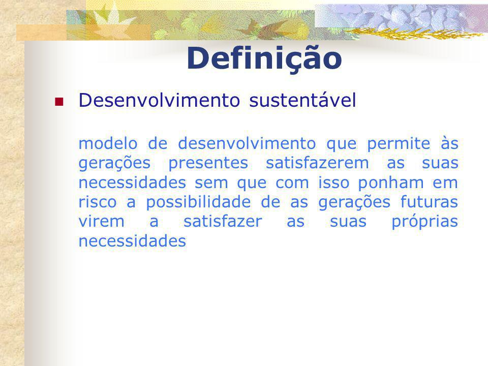 Definição Desenvolvimento sustentável