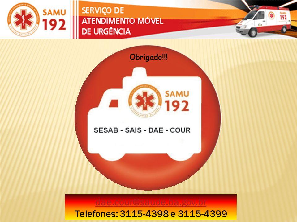 dae.cour@saude.ba.gov.br Telefones: 3115-4398 e 3115-4399