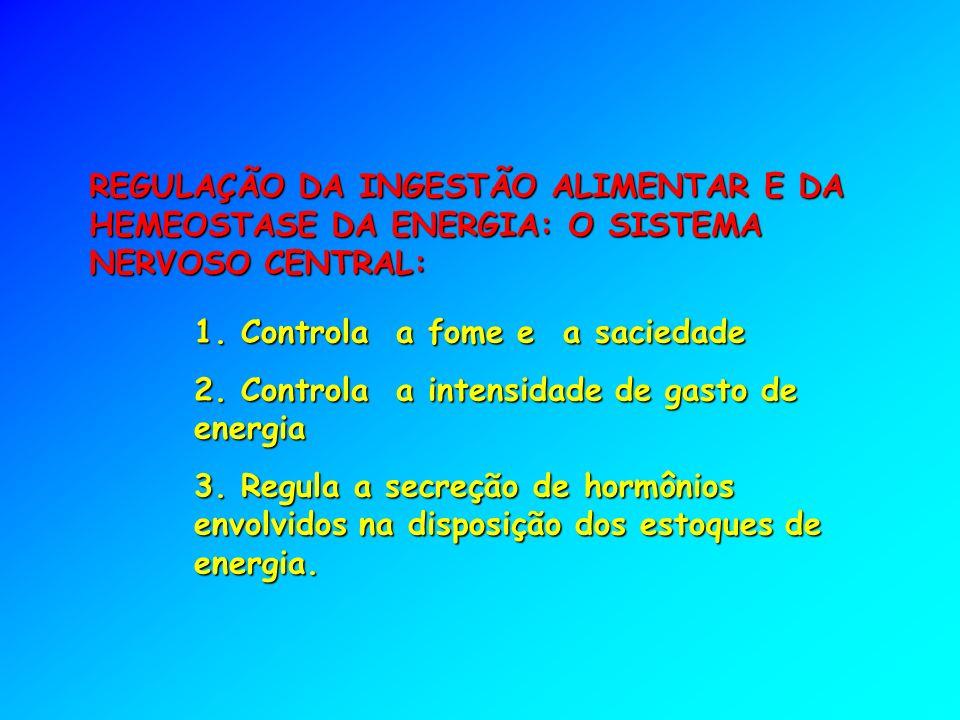 REGULAÇÃO DA INGESTÃO ALIMENTAR E DA HEMEOSTASE DA ENERGIA: O SISTEMA NERVOSO CENTRAL: