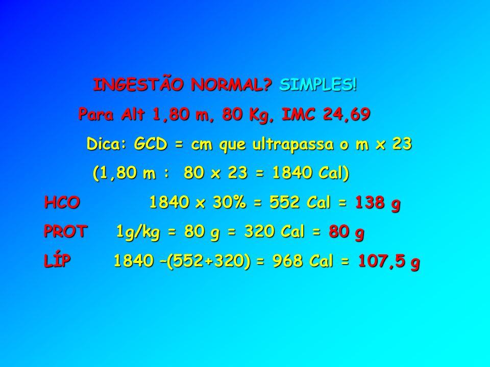 INGESTÃO NORMAL SIMPLES!