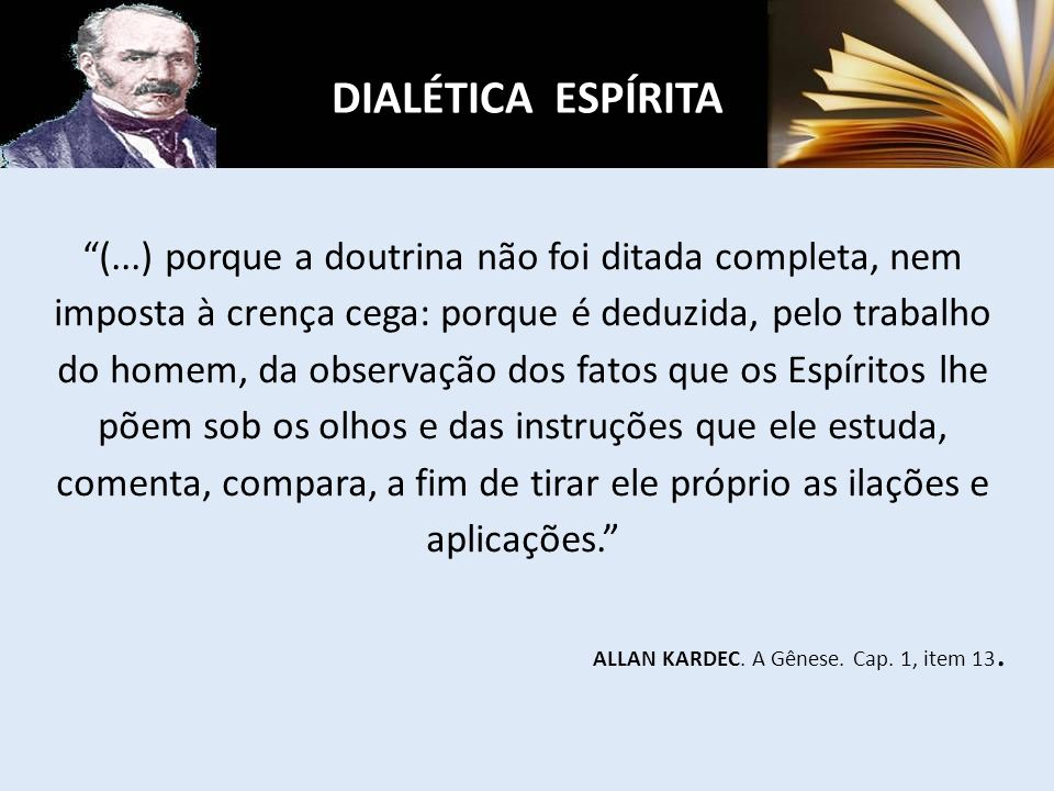DIALÉTICA ESPÍRITA