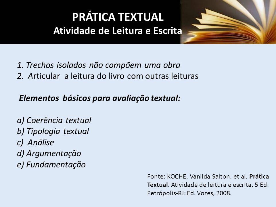 PRÁTICA TEXTUAL Atividade de Leitura e Escrita