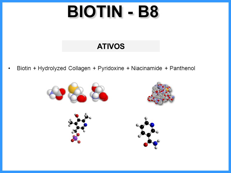 ATIVOS Biotin + Hydrolyzed Collagen + Pyridoxine + Niacinamide + Panthenol
