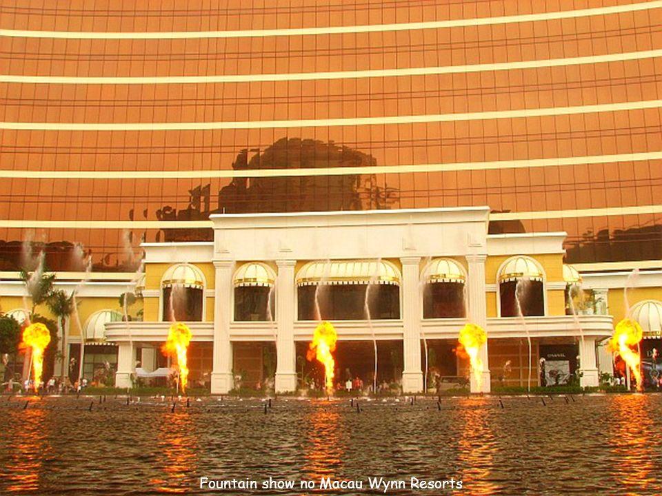 Fountain show no Macau Wynn Resorts