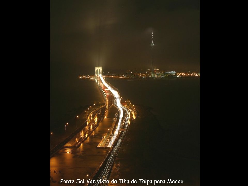 Ponte Sai Van vista da Ilha da Taipa para Macau