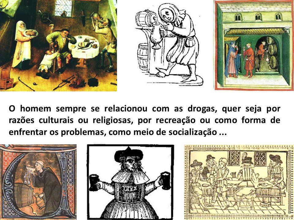 O homem sempre se relacionou com as drogas, quer seja por razões culturais ou religiosas, por recreação ou como forma de enfrentar os problemas, como meio de socialização ...