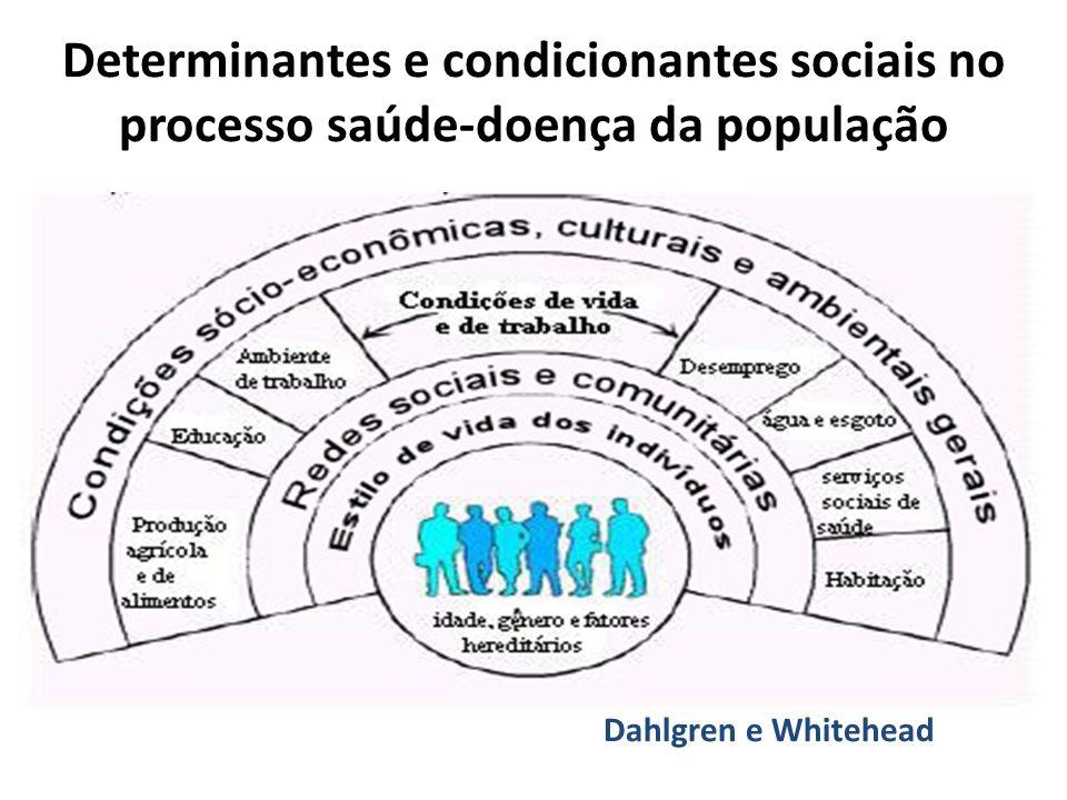Determinantes e condicionantes sociais no processo saúde-doença da população