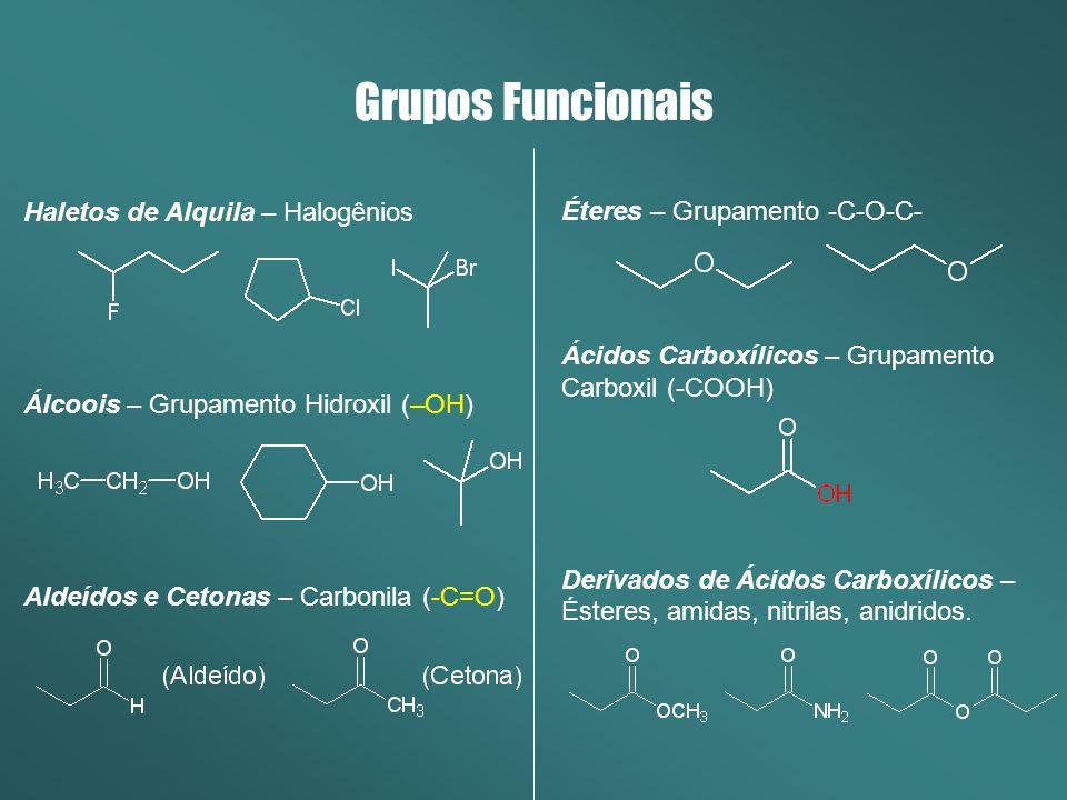 Grupos Funcionais Haletos de Alquila – Halogênios