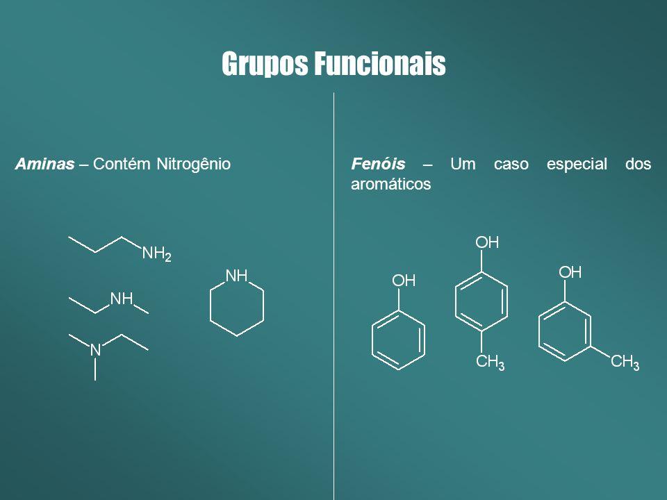 Grupos Funcionais Aminas – Contém Nitrogênio
