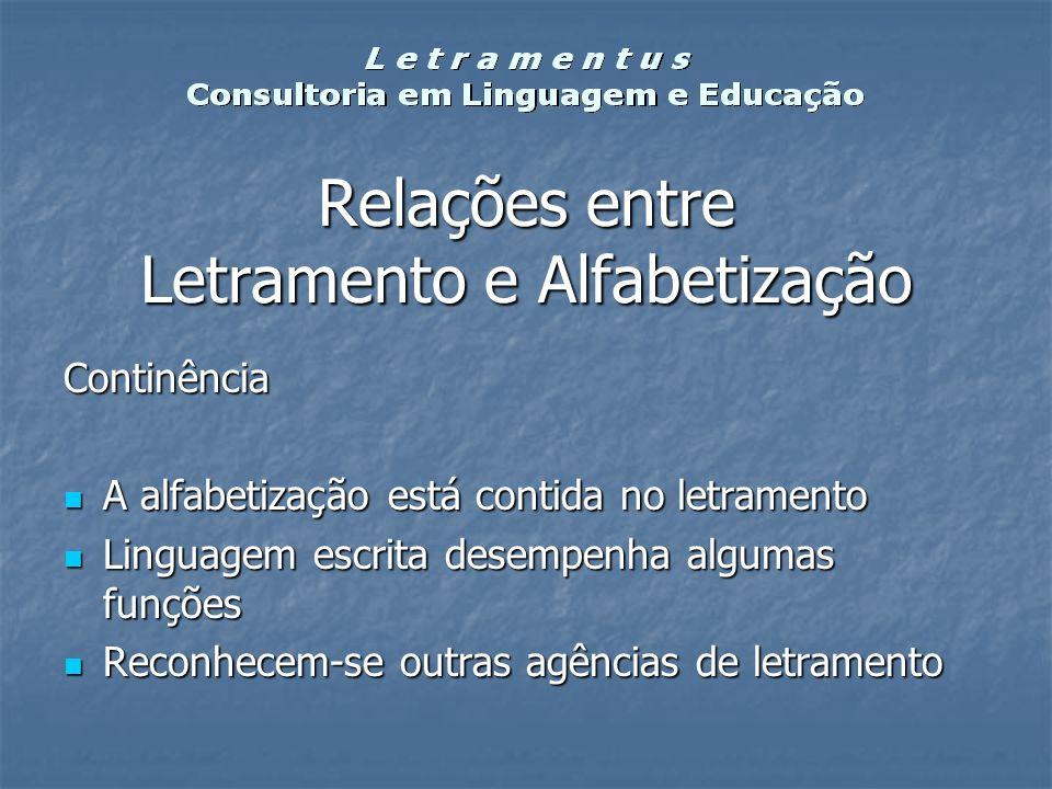 Relações entre Letramento e Alfabetização