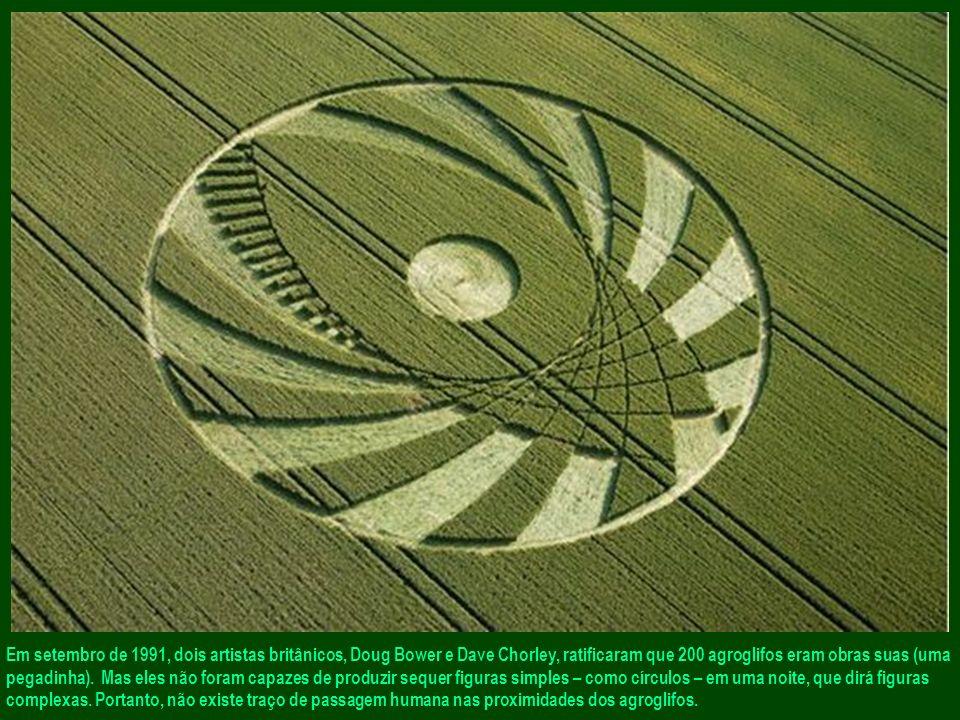 Em setembro de 1991, dois artistas britânicos, Doug Bower e Dave Chorley, ratificaram que 200 agroglifos eram obras suas (uma pegadinha).