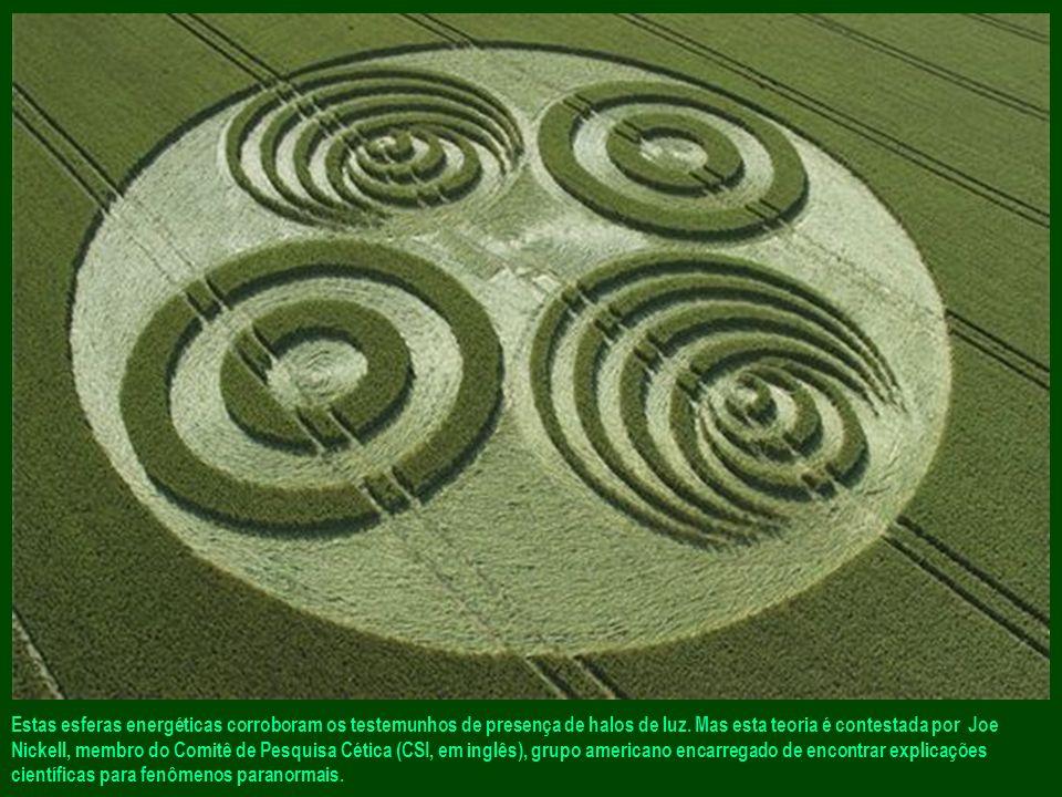 Estas esferas energéticas corroboram os testemunhos de presença de halos de luz.