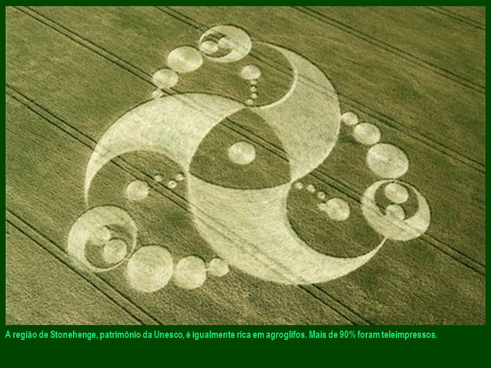 A região de Stonehenge, patrimônio da Unesco, é igualmente rica em agroglifos.