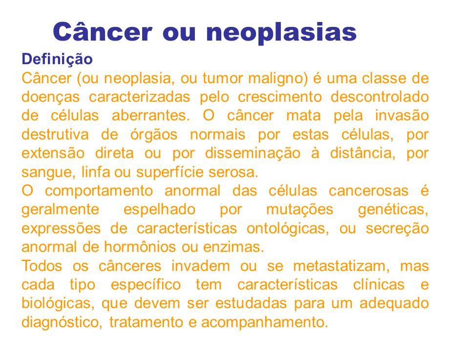 Câncer ou neoplasias Definição