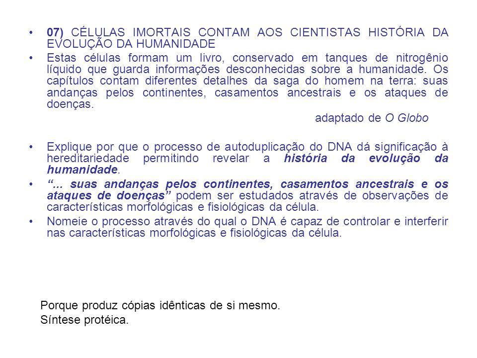 07) CÉLULAS IMORTAIS CONTAM AOS CIENTISTAS HISTÓRIA DA EVOLUÇÃO DA HUMANIDADE