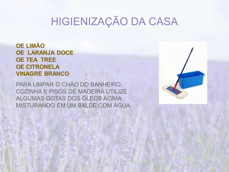HIGIENIZAÇÃO DA CASA OE LIMÃO OE LARANJA DOCE OE TEA TREE OE CITRONELA
