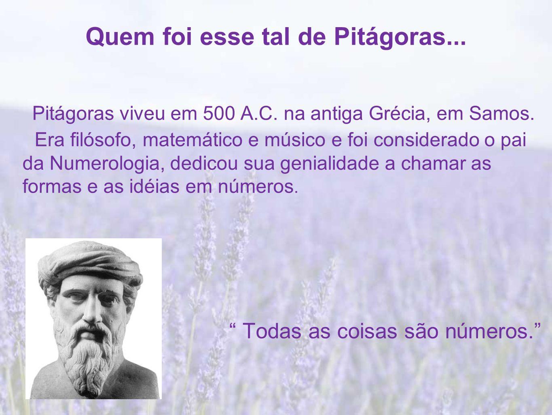 Quem foi esse tal de Pitágoras...
