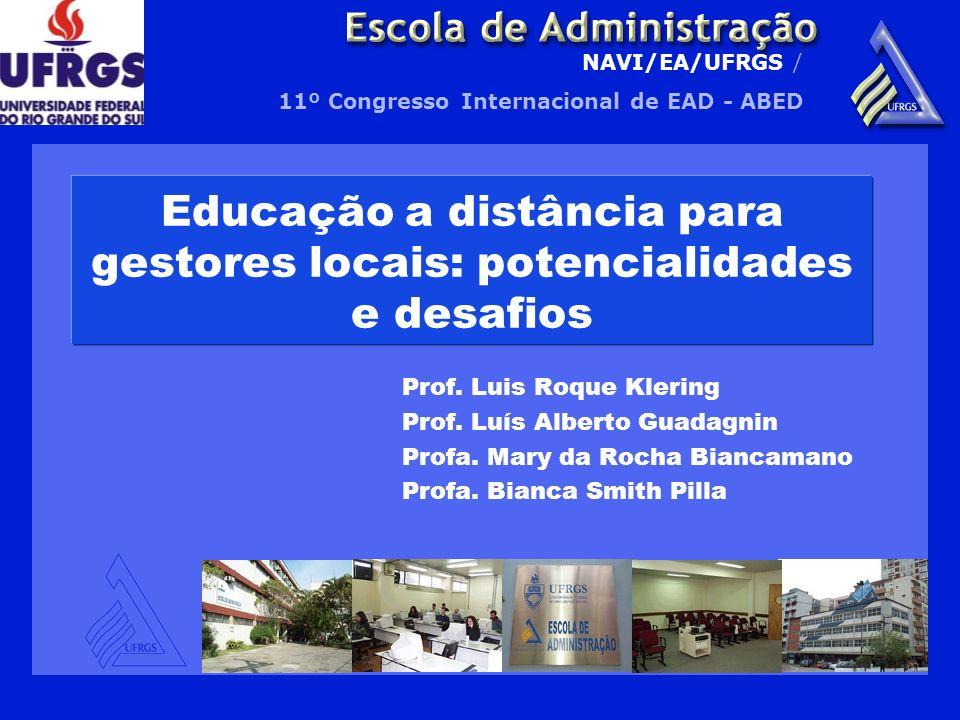 Educação a distância para gestores locais: potencialidades e desafios