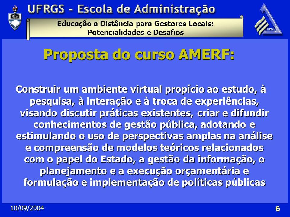 Proposta do curso AMERF: