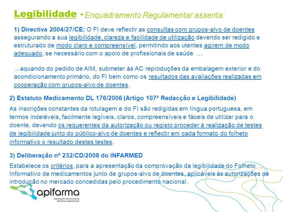 Legibilidade - Enquadramento Regulamentar assenta: