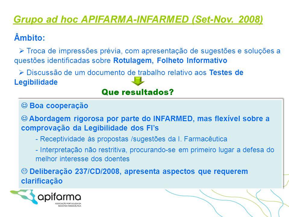 Grupo ad hoc APIFARMA-INFARMED (Set-Nov. 2008)