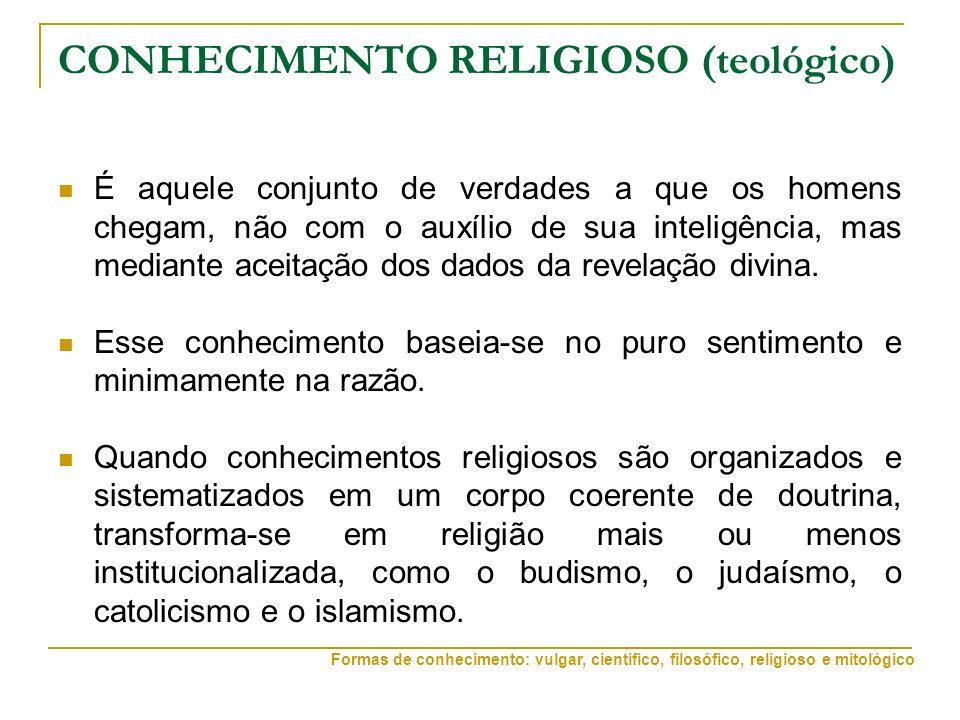 CONHECIMENTO RELIGIOSO (teológico)