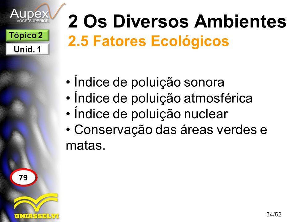 2 Os Diversos Ambientes 2.5 Fatores Ecológicos
