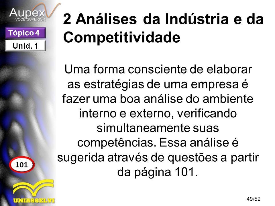 2 Análises da Indústria e da Competitividade