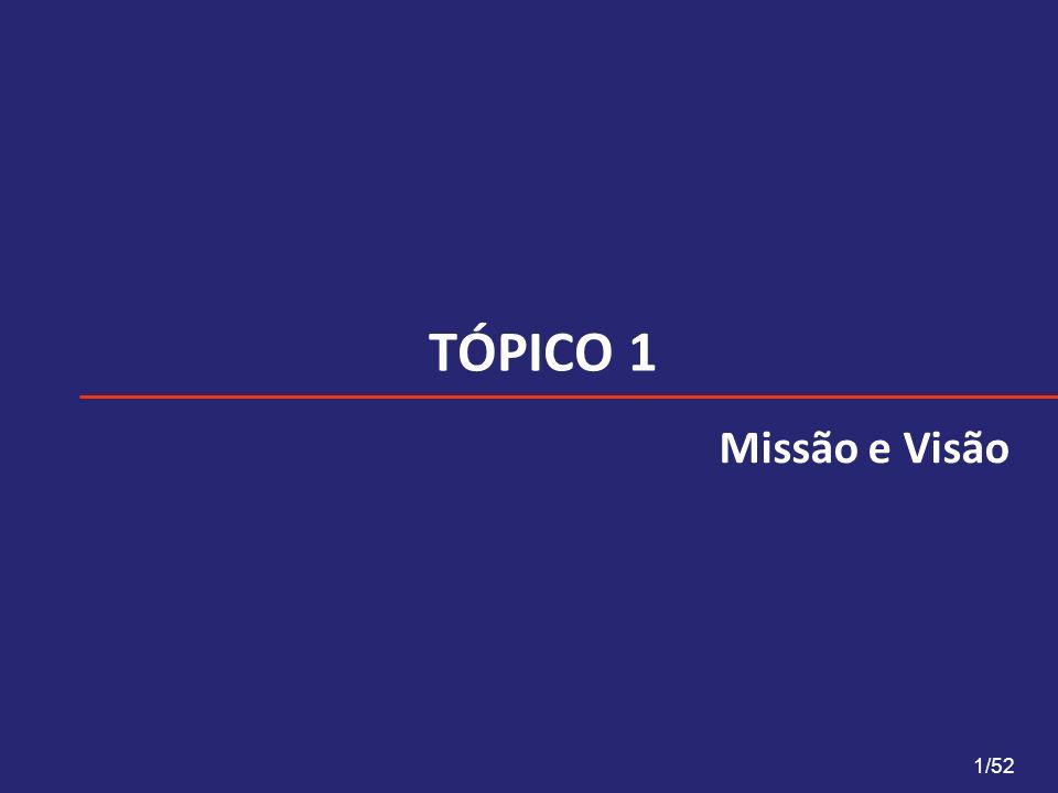 TÓPICO 1 Missão e Visão 1/52