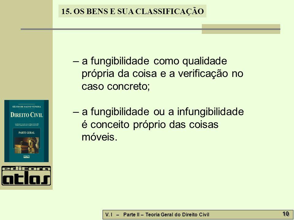 – a fungibilidade como qualidade própria da coisa e a verificação no caso concreto;