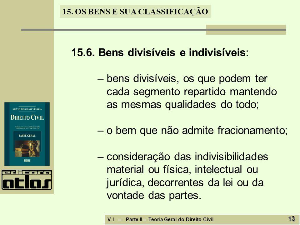 15.6. Bens divisíveis e indivisíveis: