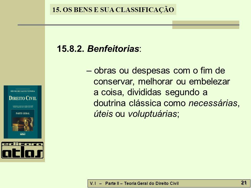 15.8.2. Benfeitorias: