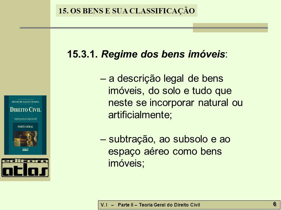 15.3.1. Regime dos bens imóveis: