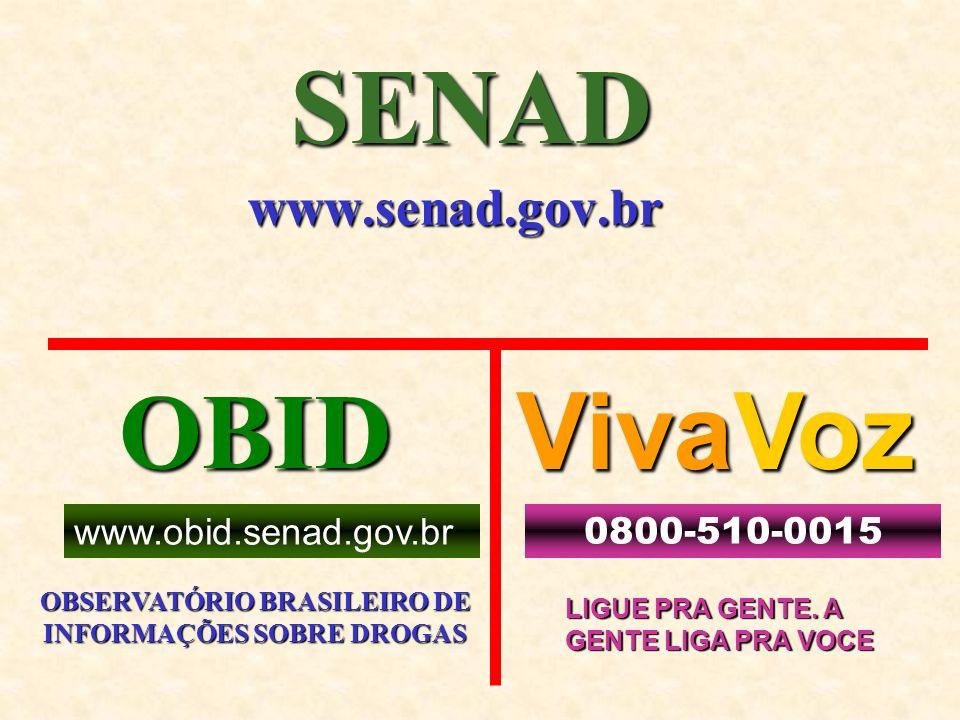 OBSERVATÓRIO BRASILEIRO DE INFORMAÇÕES SOBRE DROGAS
