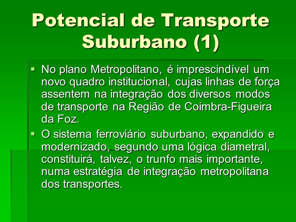 Potencial de Transporte Suburbano (1)