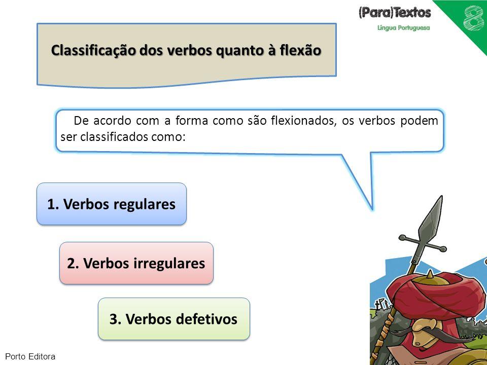 Classificação dos verbos quanto à flexão