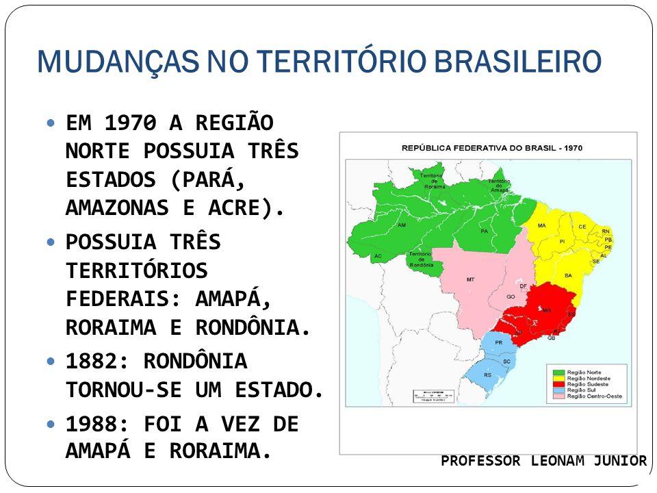 MUDANÇAS NO TERRITÓRIO BRASILEIRO