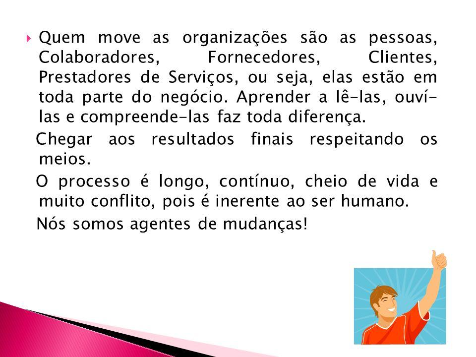 Quem move as organizações são as pessoas, Colaboradores, Fornecedores, Clientes, Prestadores de Serviços, ou seja, elas estão em toda parte do negócio. Aprender a lê-las, ouví- las e compreende-las faz toda diferença.