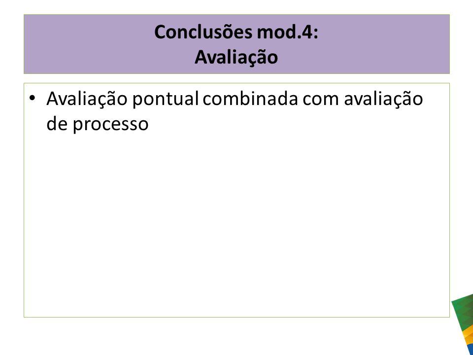 Conclusões mod.4: Avaliação
