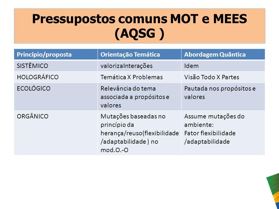 Pressupostos comuns MOT e MEES (AQSG )